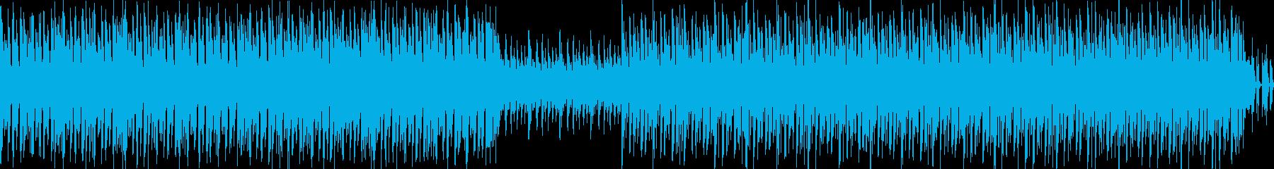 古いアクションゲームのBGMのような曲の再生済みの波形