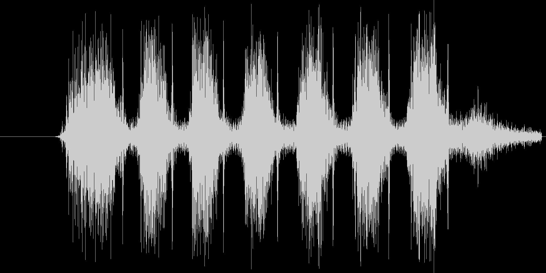 タタタタタタ。銃を連射する音(高め)の未再生の波形