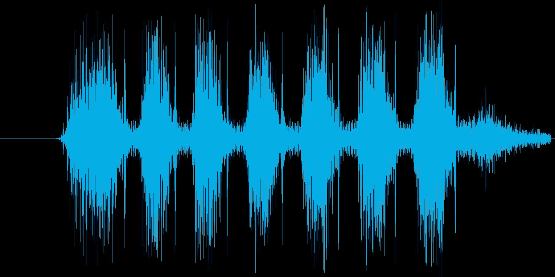 タタタタタタ。銃を連射する音(高め)の再生済みの波形