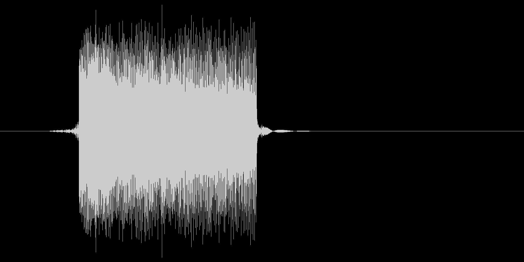 ゲーム(ファミコン風)レーザー音_027の未再生の波形