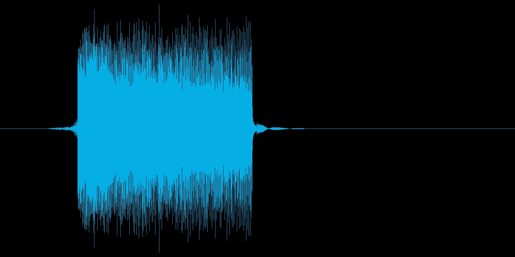 ゲーム(ファミコン風)レーザー音_027の再生済みの波形