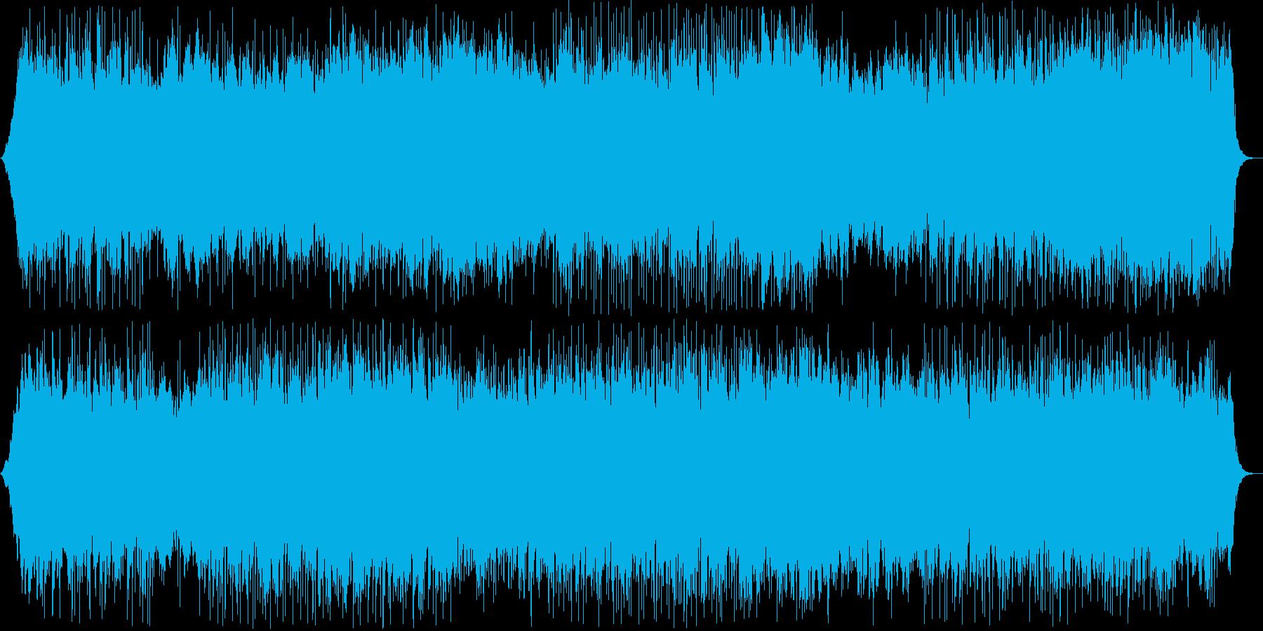 快適でくつろげるポップス曲の再生済みの波形