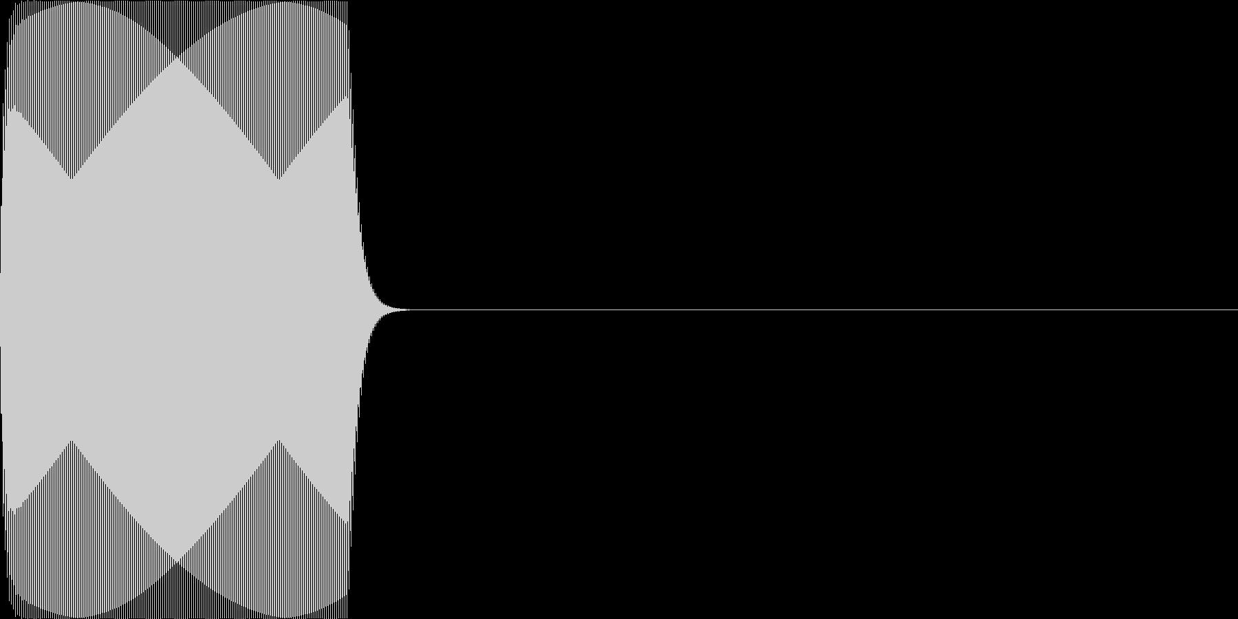 ピッ(click_021_単音)の未再生の波形