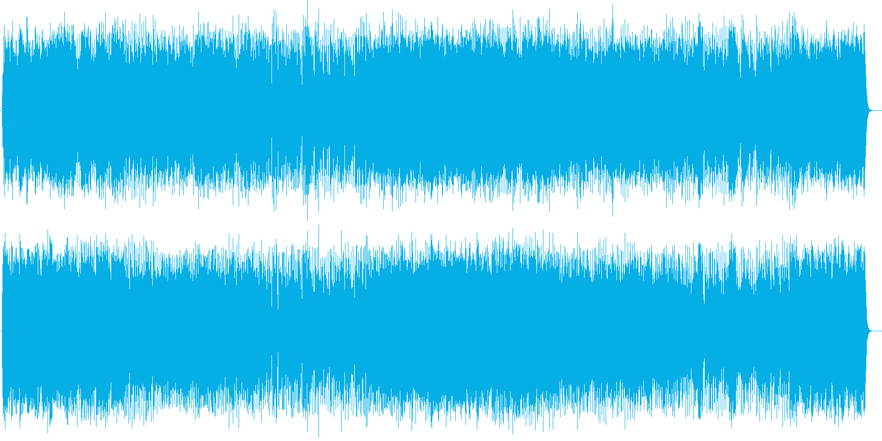 活気に満ち栄光をたたえるミュージックの再生済みの波形