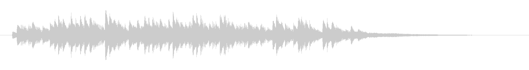 ピアノのリラクゼーションミュージックの未再生の波形