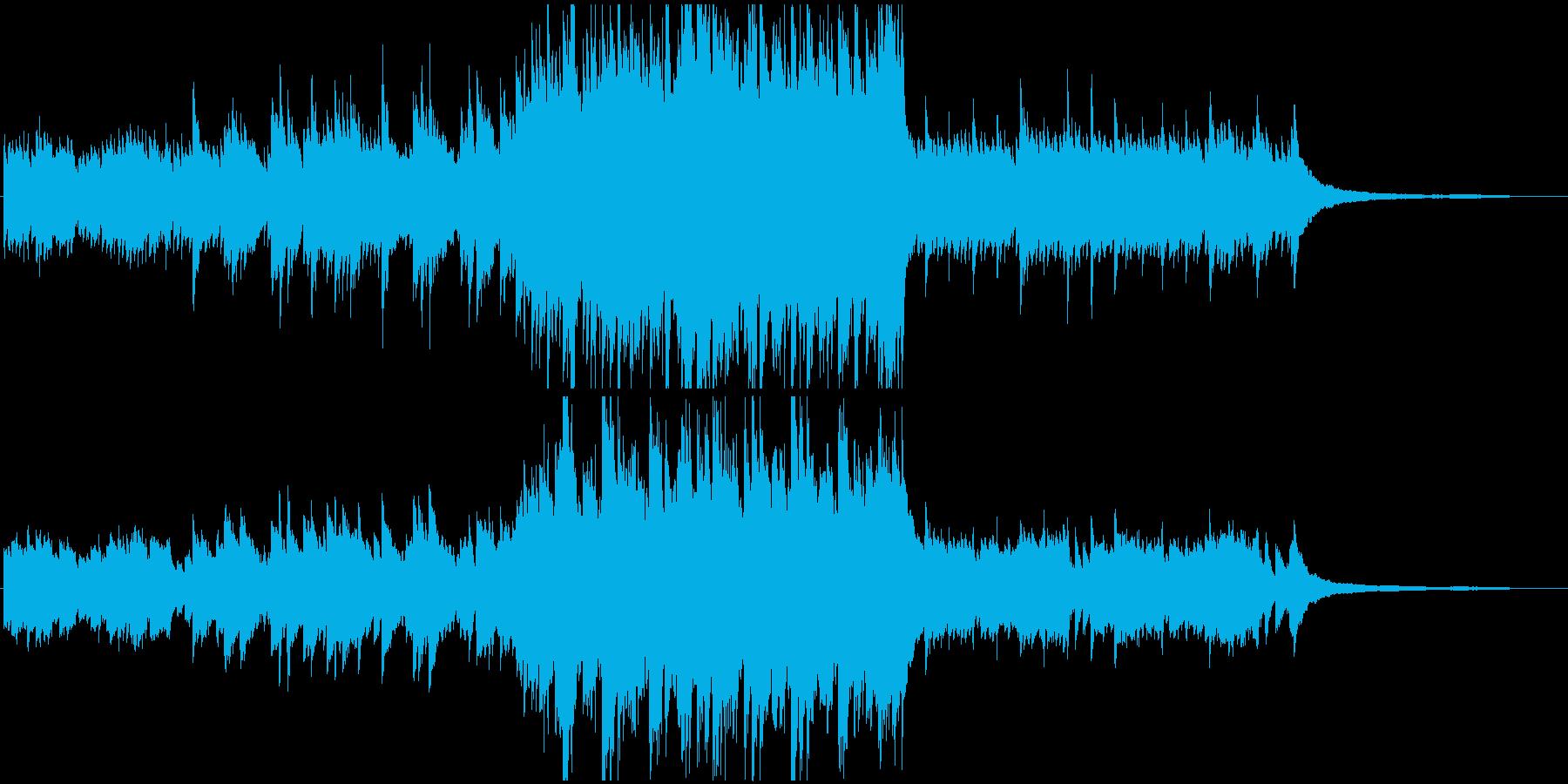 幼い頃を思い出すようなピアノ曲の再生済みの波形