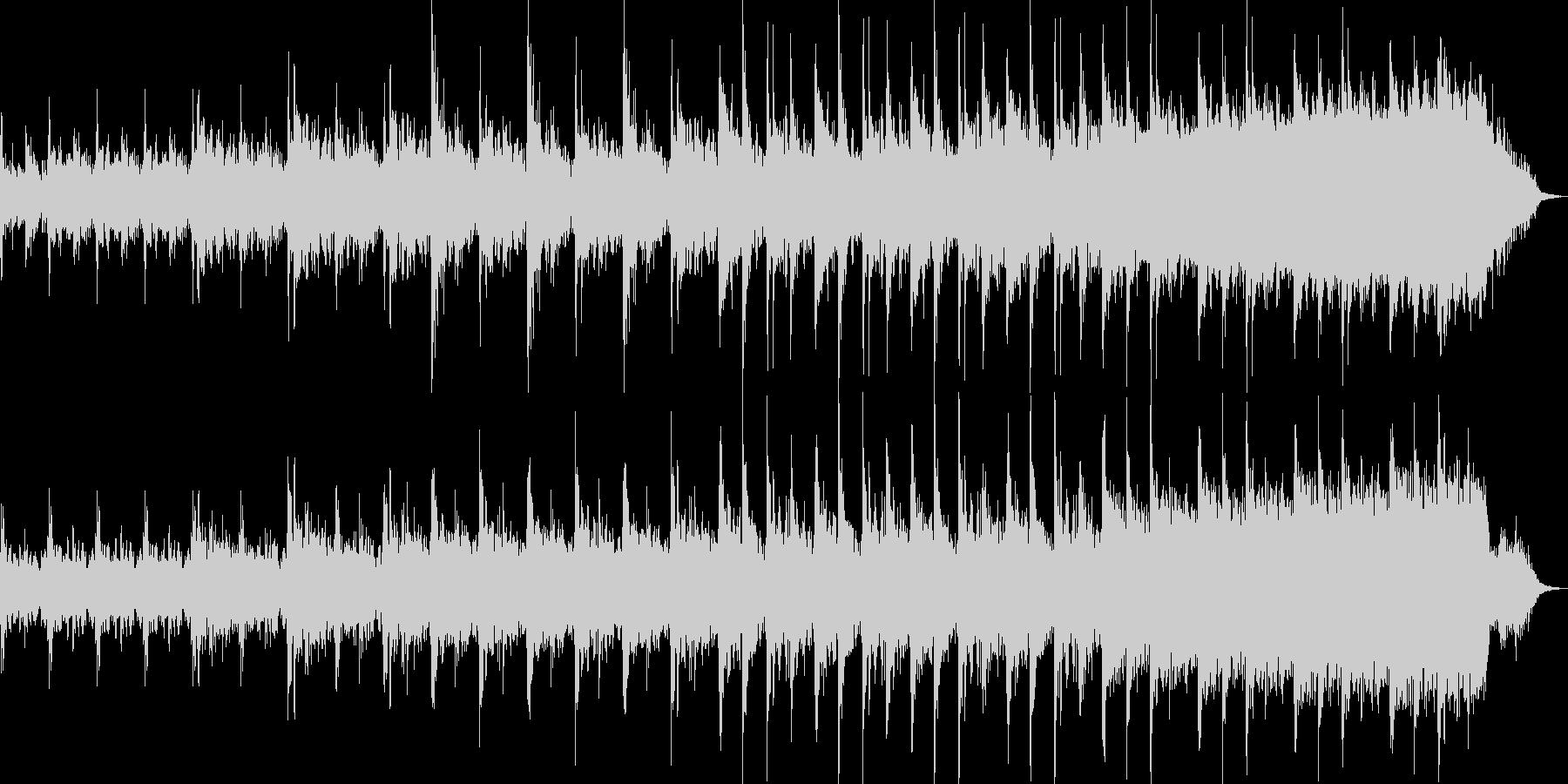 不気味であり、コミカルな面もあるBGMの未再生の波形