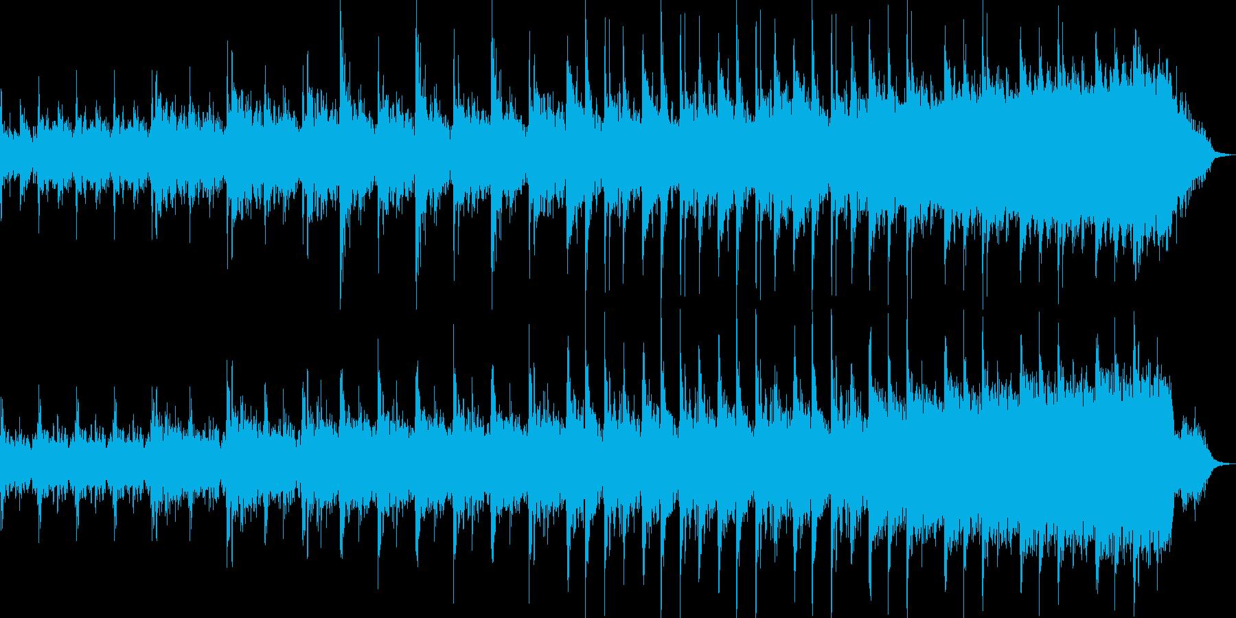 不気味であり、コミカルな面もあるBGMの再生済みの波形