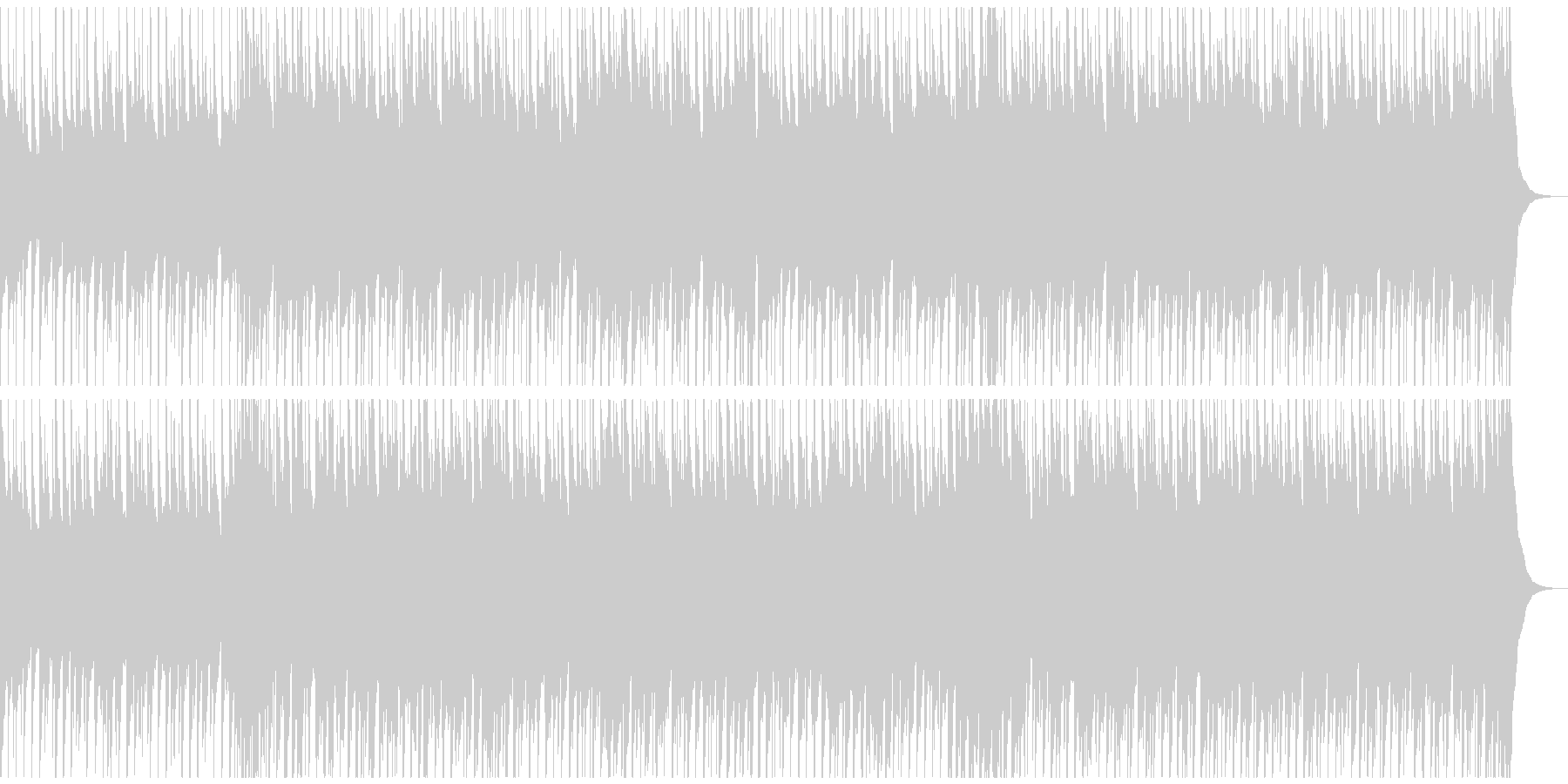 底抜けに明るく笑顔になるウクレレポップの未再生の波形