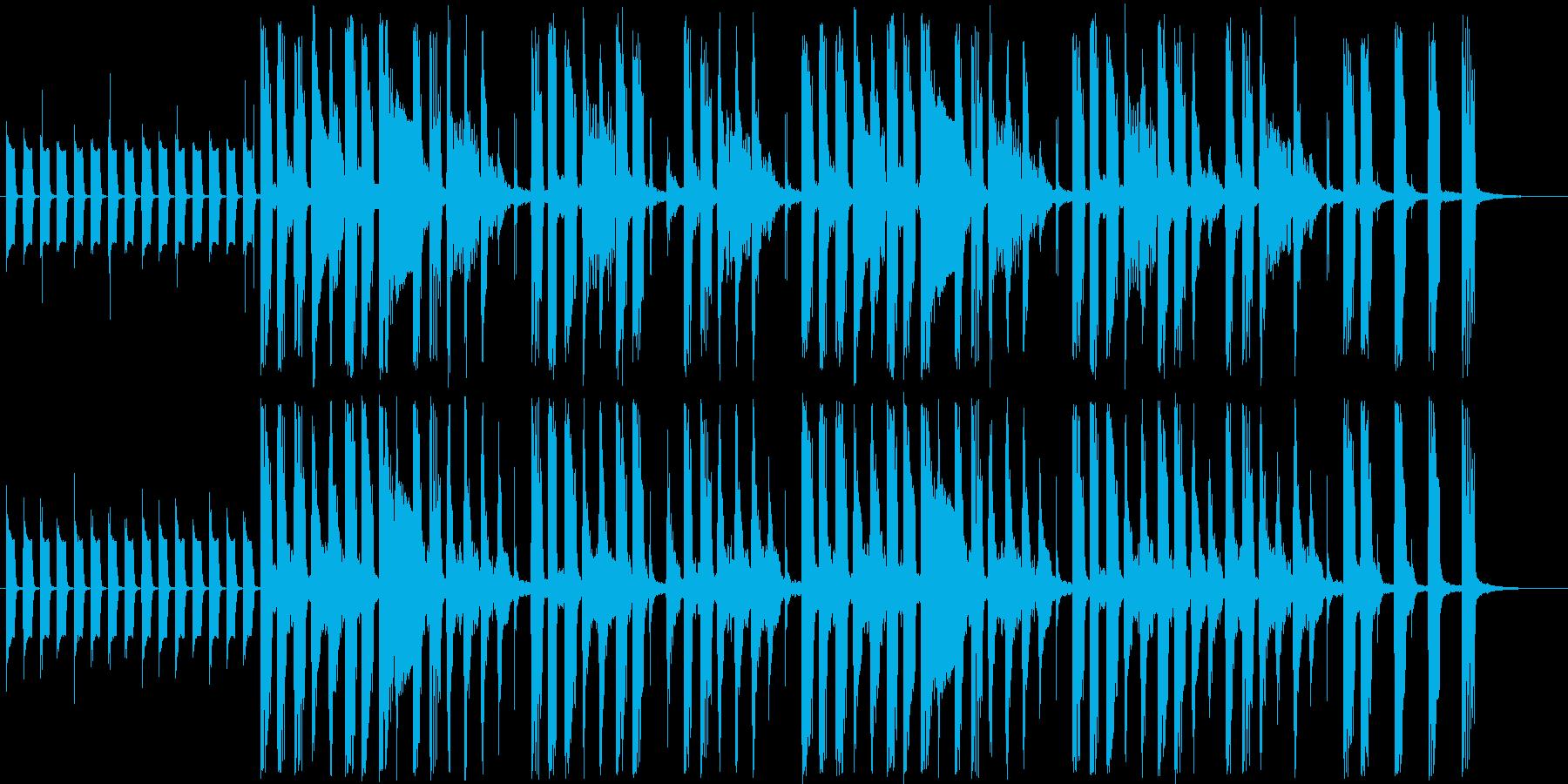 ほのぼのしたシンセサイザー短めジングルの再生済みの波形