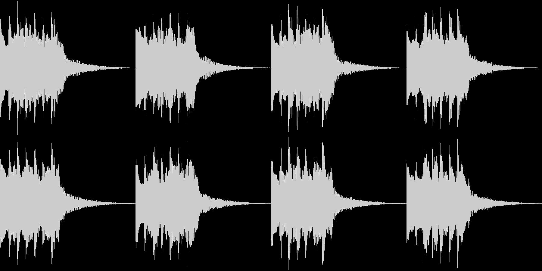 シンプル ベル 着信音 チャイム B-3の未再生の波形