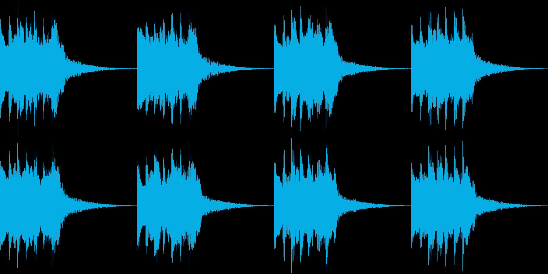 シンプル ベル 着信音 チャイム B-3の再生済みの波形