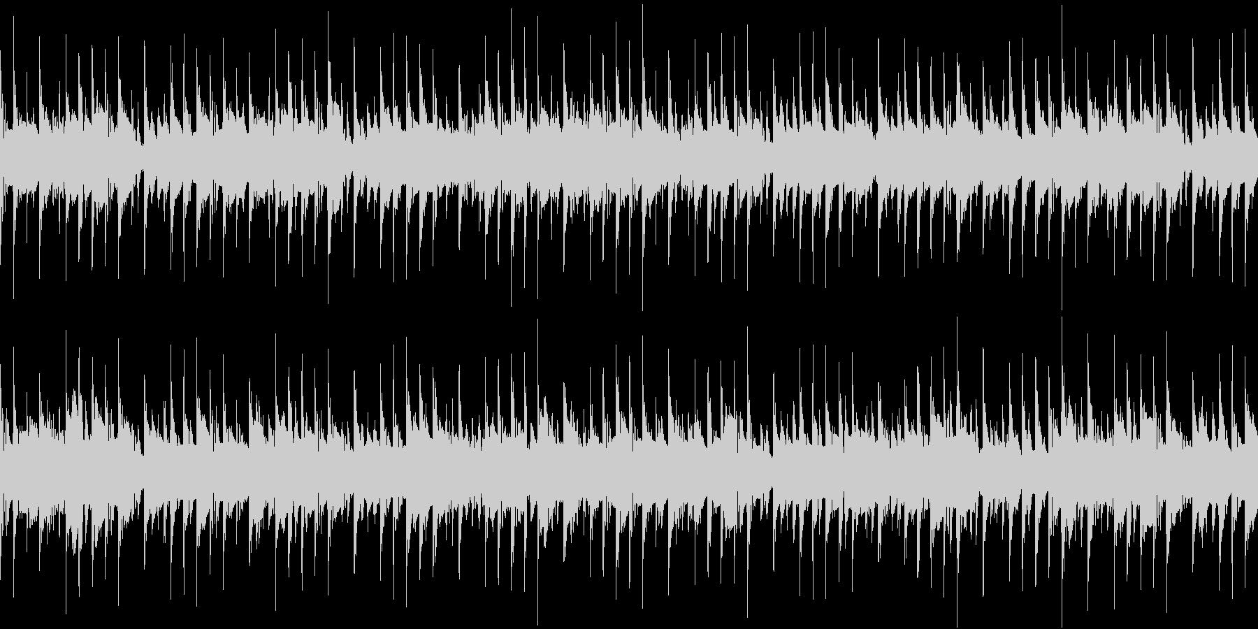 迷宮を彷徨う不安感のあるループ曲の未再生の波形