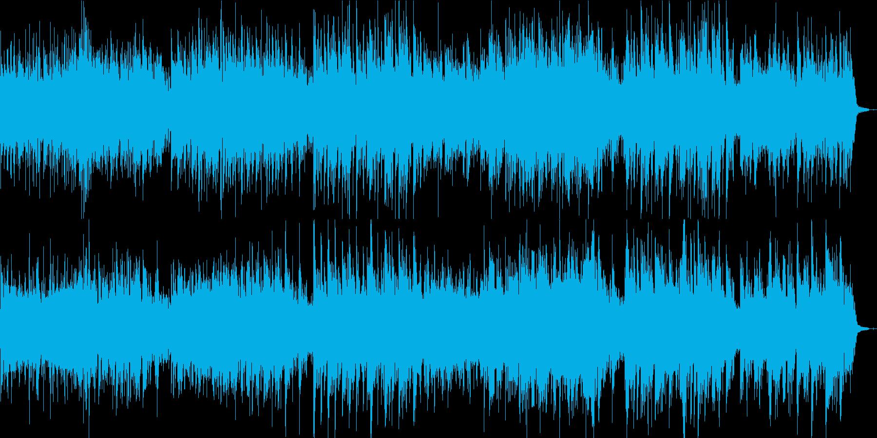 ゆるやかな雰囲気のボサノバ風BGMの再生済みの波形