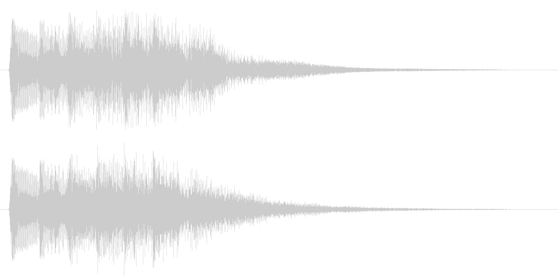 8bitなパワーアップ音 やったー 回復の未再生の波形