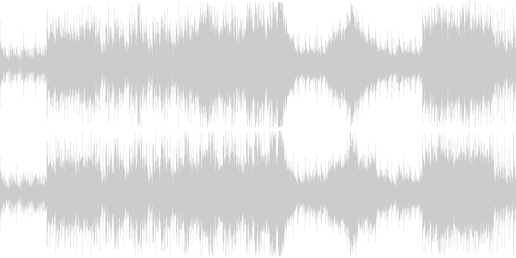 危機的状況を表現したオーケストラ戦闘曲の未再生の波形