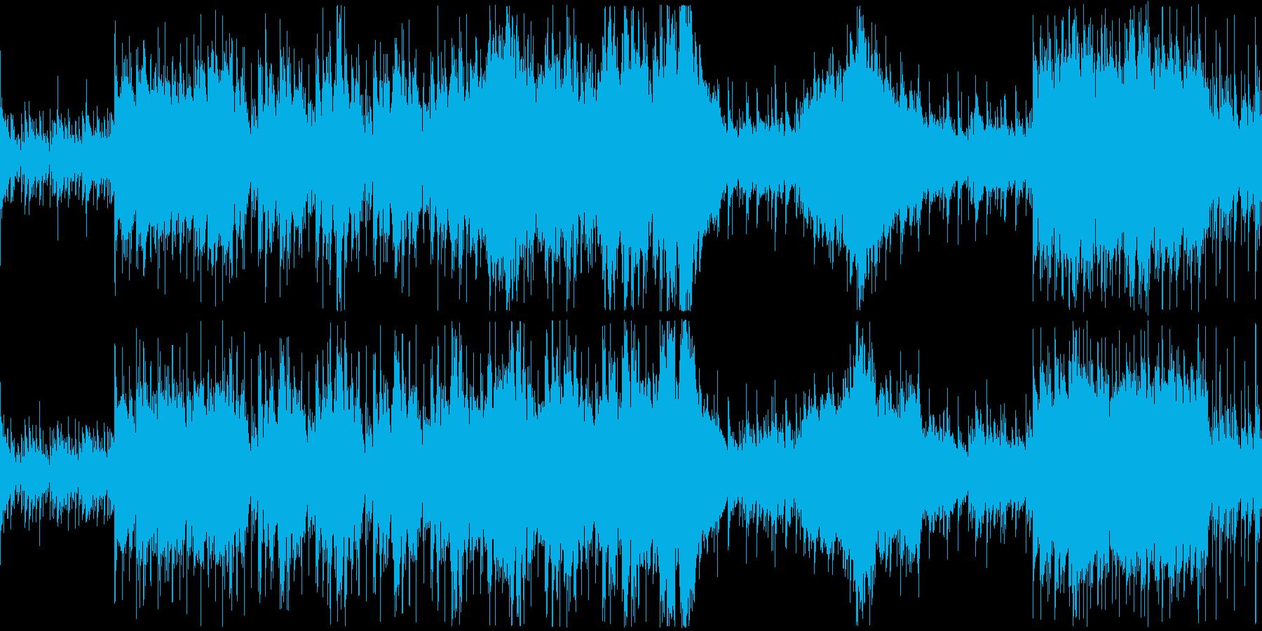 危機的状況を表現したオーケストラ戦闘曲の再生済みの波形