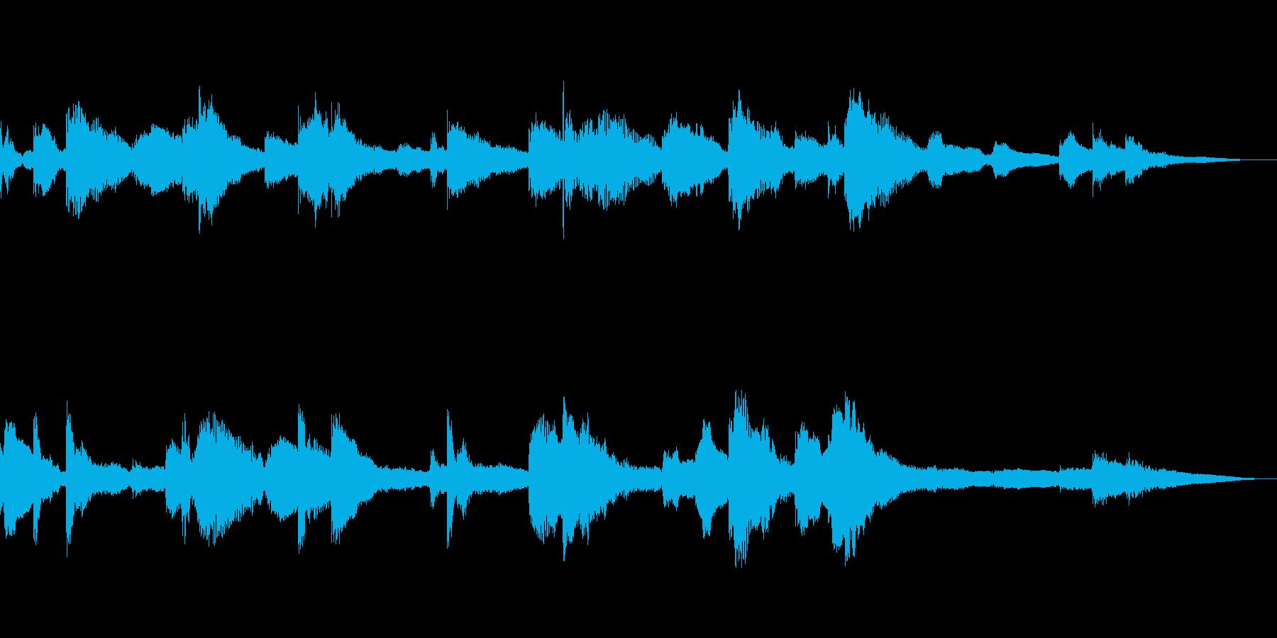 ピアノが奏でるBGMの再生済みの波形