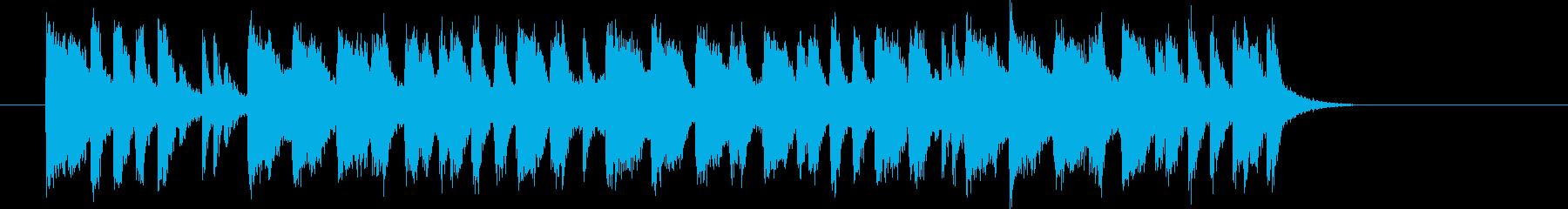 アップテンポのイントロの再生済みの波形