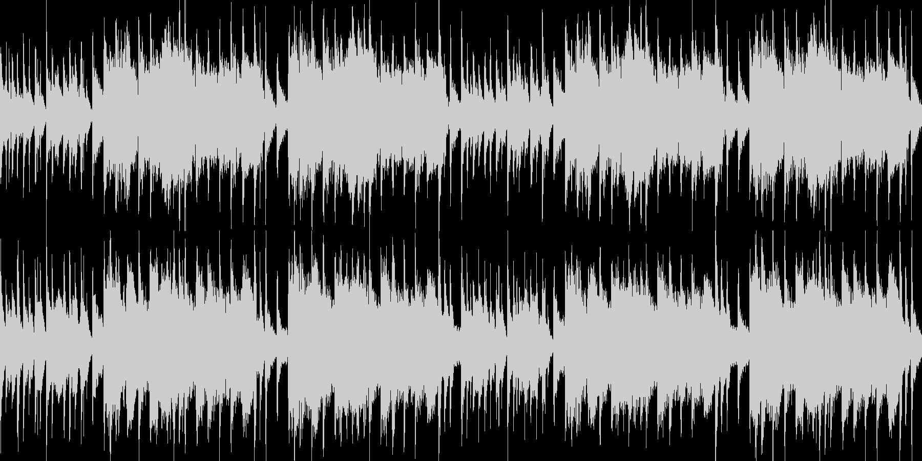 中国風のBGM(ループ)の未再生の波形