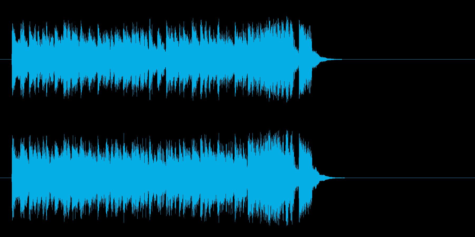 ハツラツな8ビートポップ(サビ)の再生済みの波形