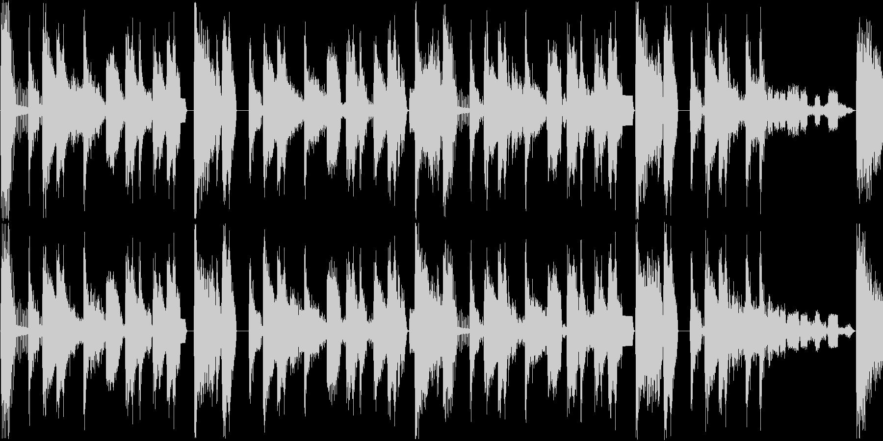 気怠い雰囲気のビートのジングル_ループの未再生の波形