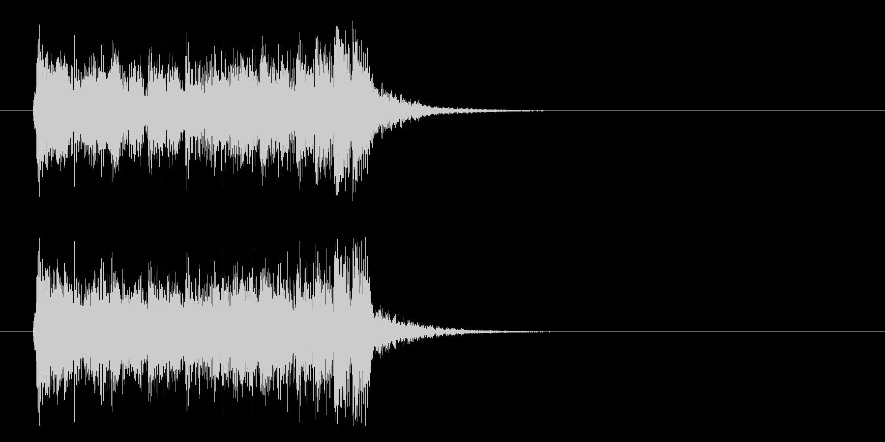 ジングル(陽気なサンバ風)の未再生の波形