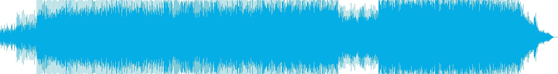未来的で疾走感のあるテクノ調の曲の再生済みの波形