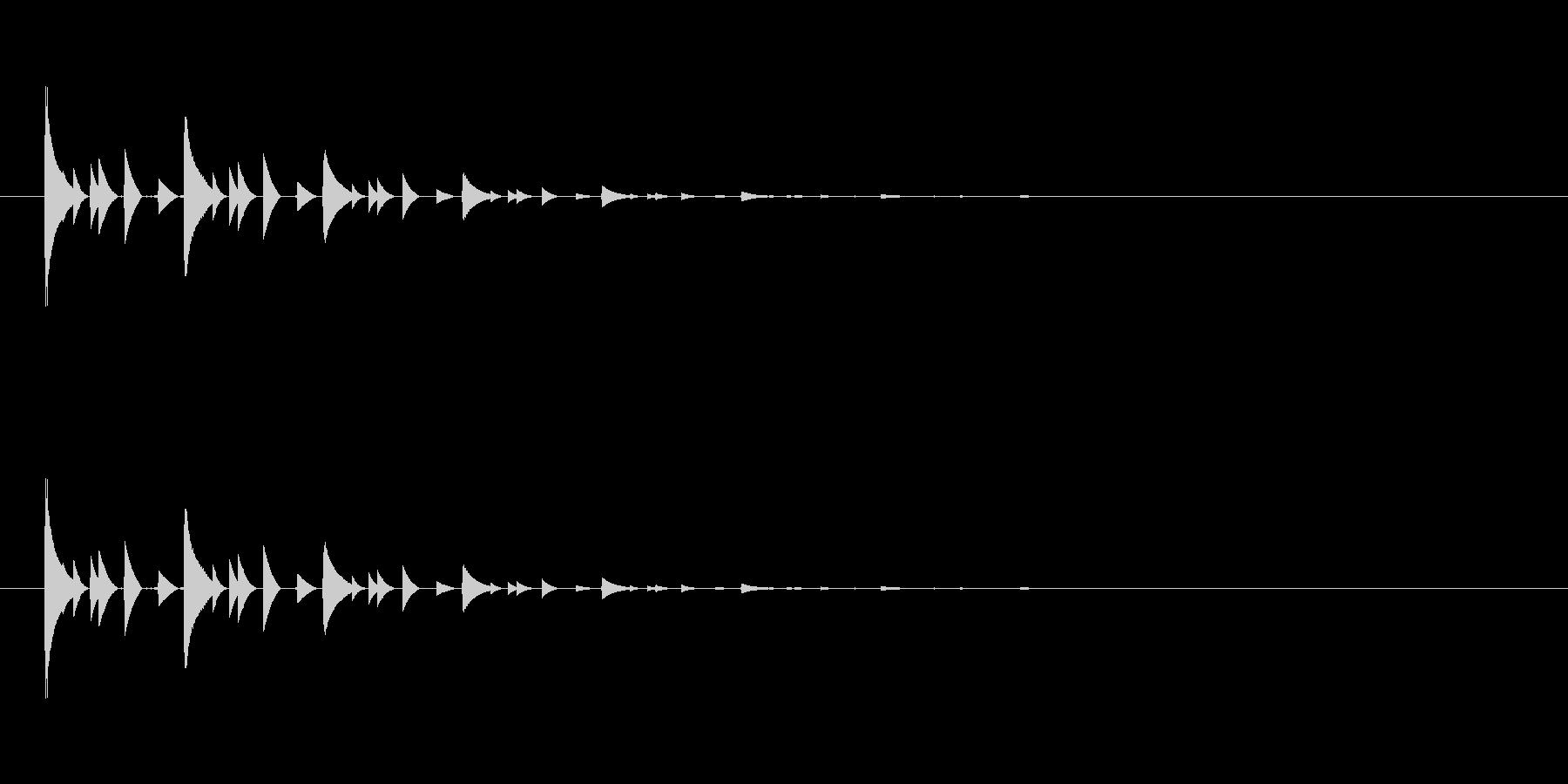 【アクセント16-3】の未再生の波形