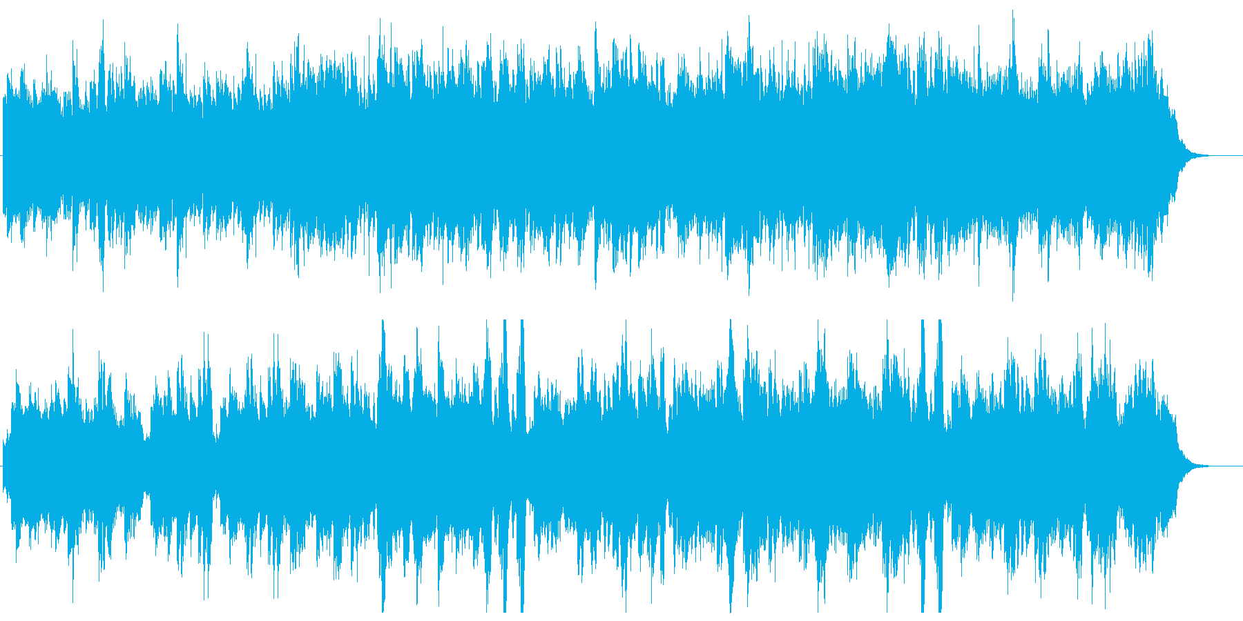 ピアノとストリングスの優しいメロディの再生済みの波形