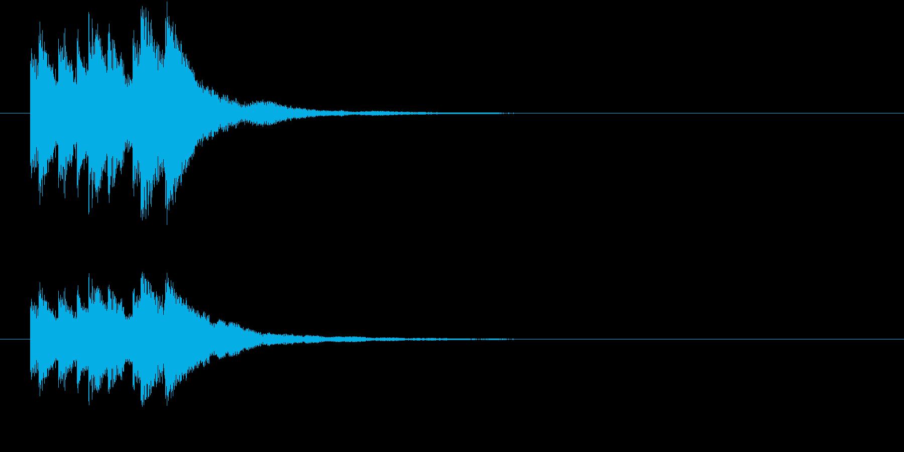 キラリン キラキラ 星 グロッケンの再生済みの波形