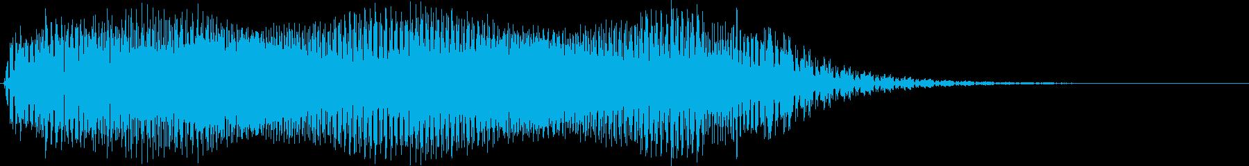 ギュイーン。ロボット・機械動作音(長め)の再生済みの波形