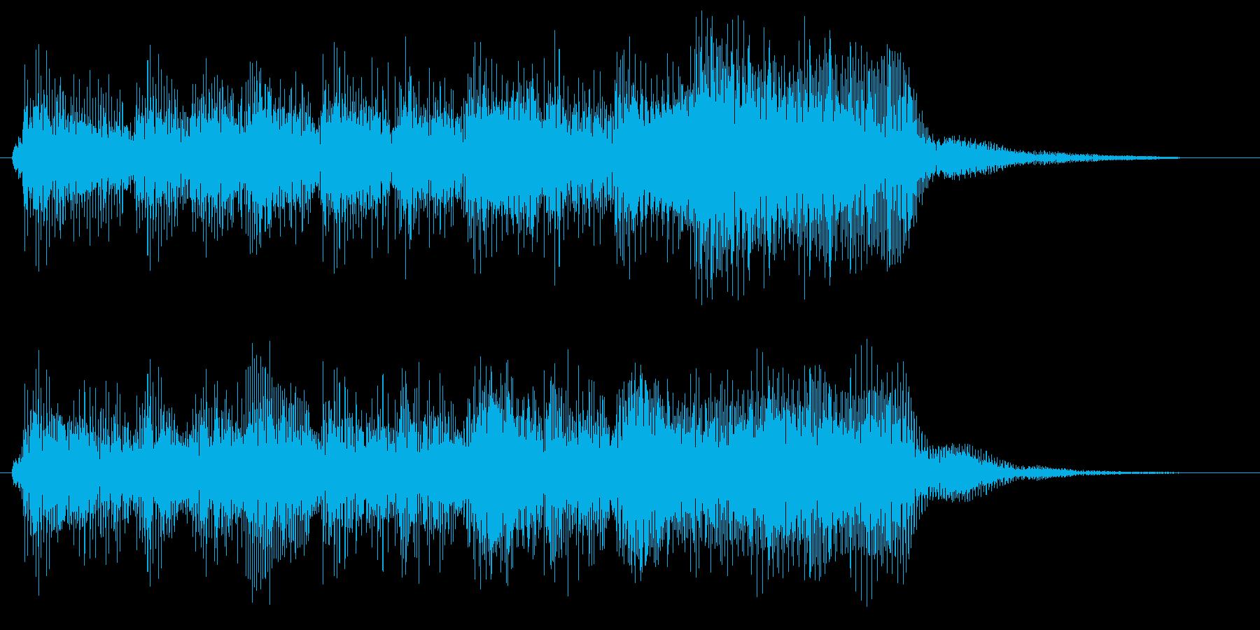 ゲームクリアや勝利のファンファーレ の再生済みの波形