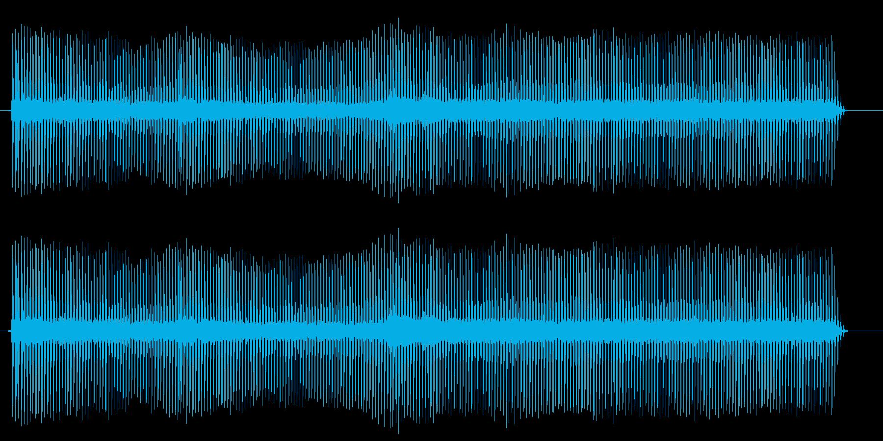 ジージーと、電流の流れる音ですの再生済みの波形