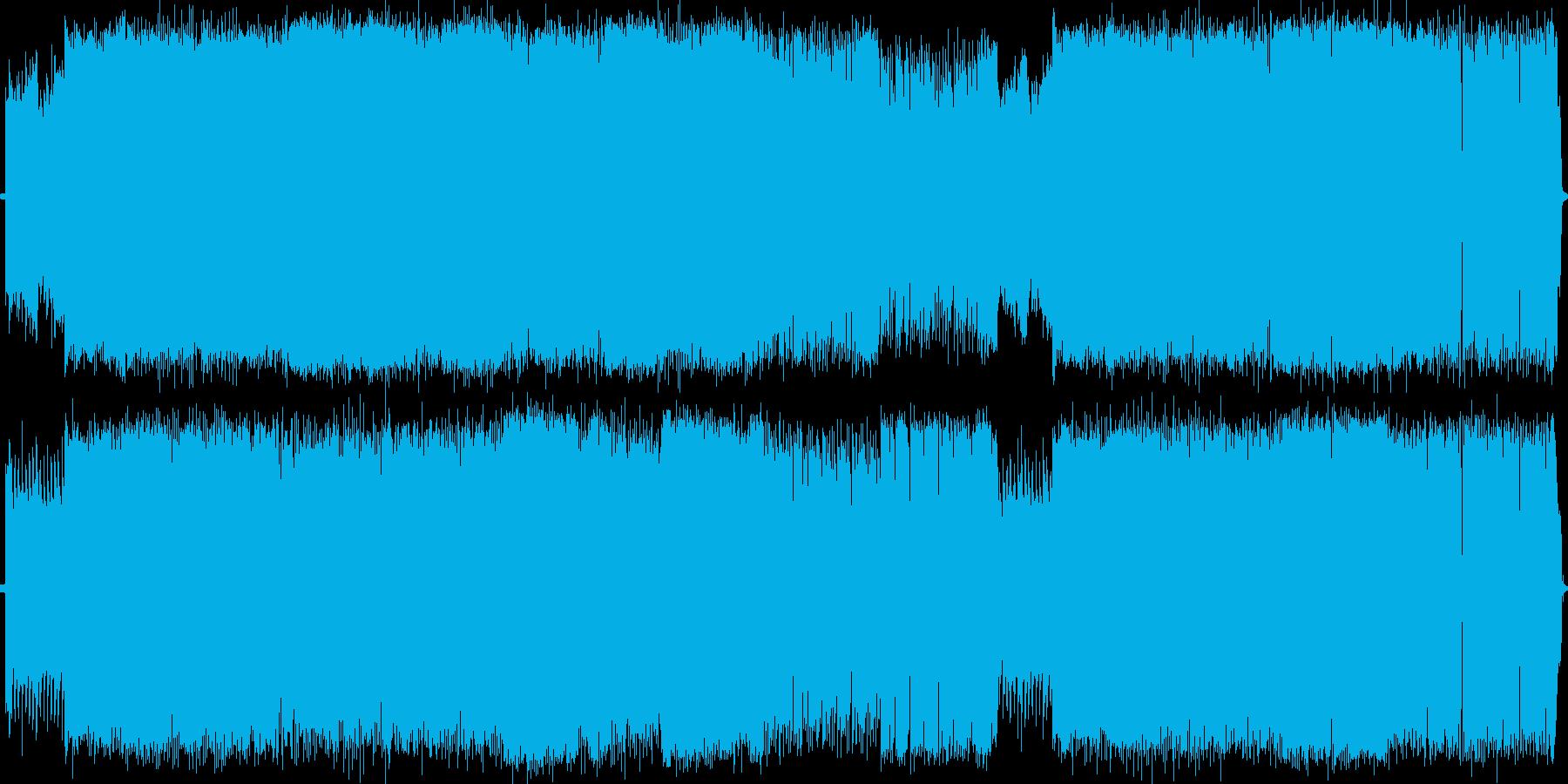 スピード感溢れるギターインストの再生済みの波形