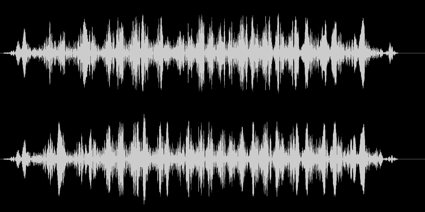 丸みのあるコミカルな飛行音・水中の音の未再生の波形