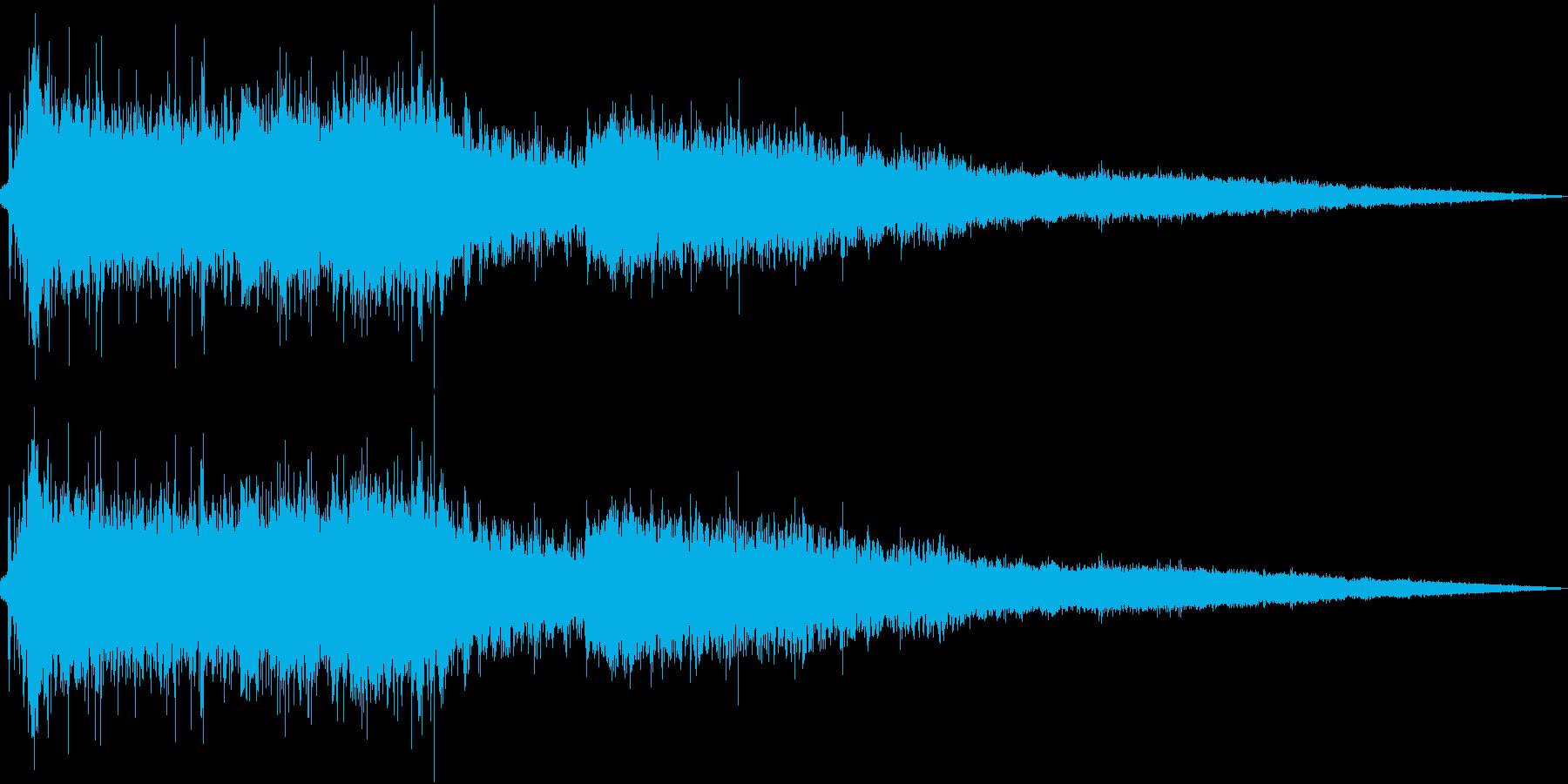 トイレを流す音_01_STの再生済みの波形