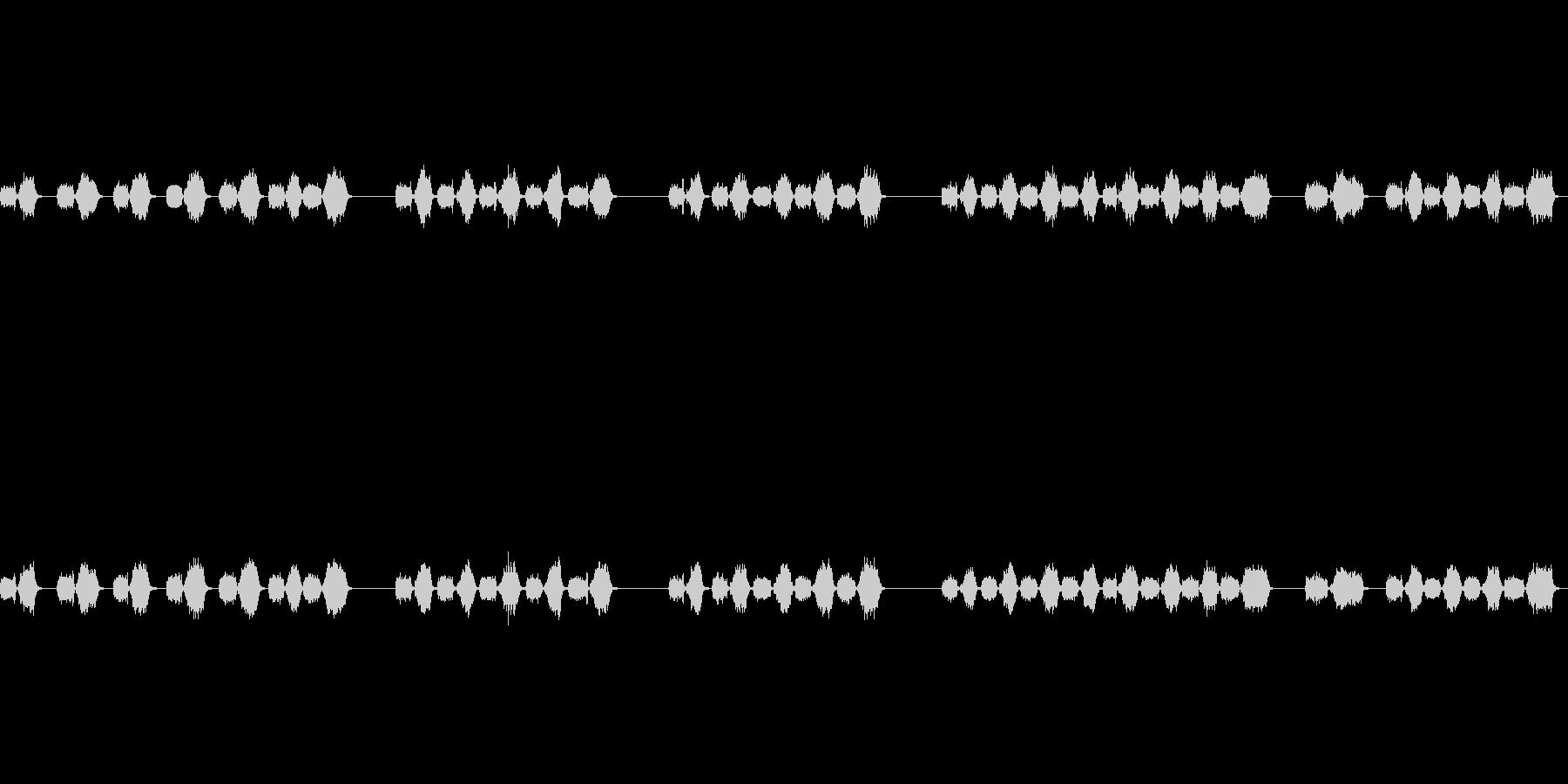 シュッシュ(カメラにブロワーをかける音)の未再生の波形