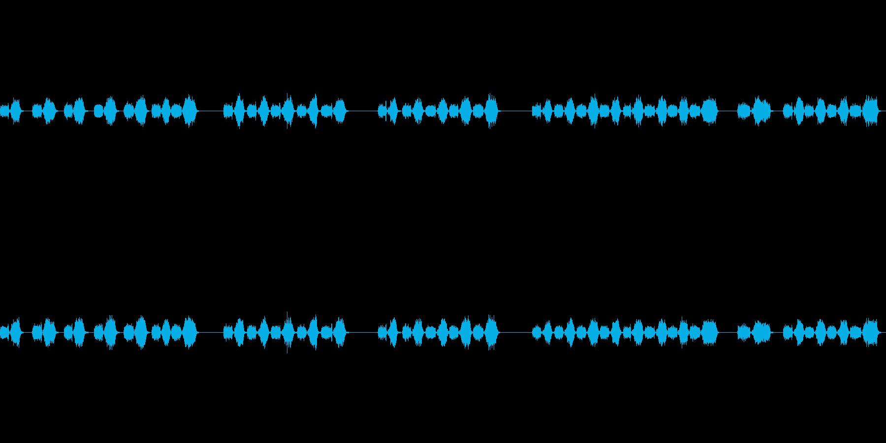 シュッシュ(カメラにブロワーをかける音)の再生済みの波形
