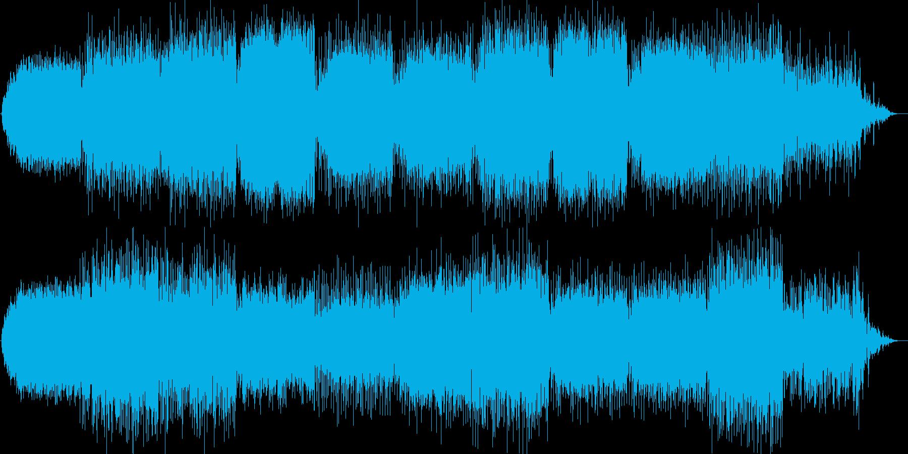 ストレスフリーなリラクゼーションBGMの再生済みの波形