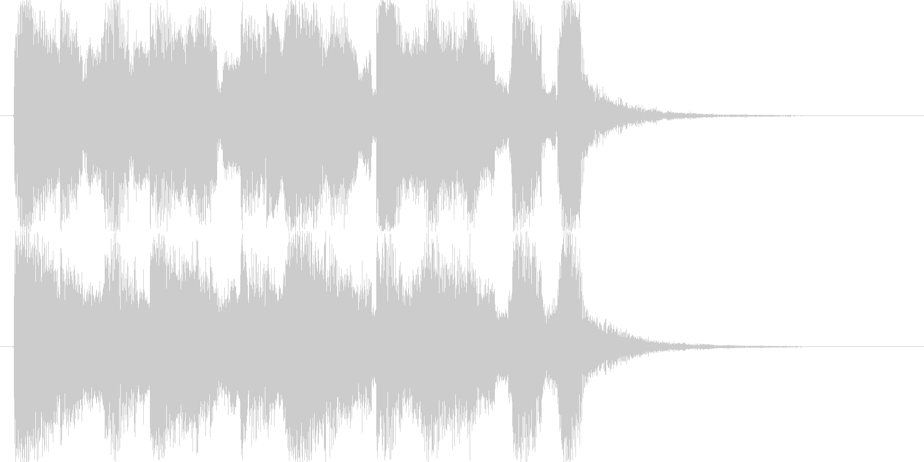 メリーゴーランド風サウンドロゴの未再生の波形