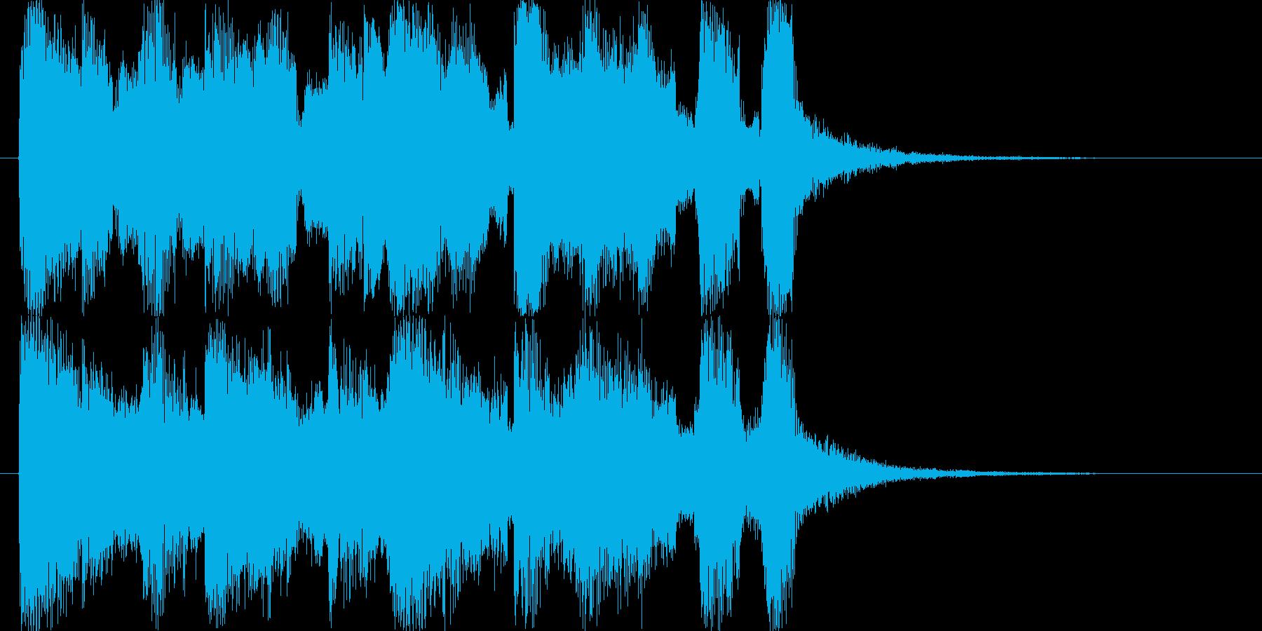 メリーゴーランド風サウンドロゴの再生済みの波形