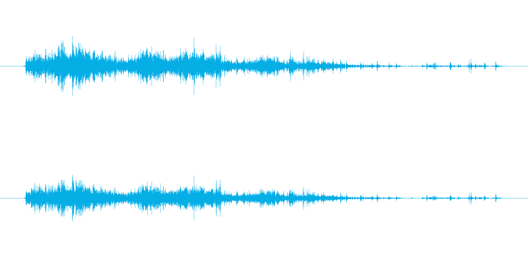 がさっ(ナイロンの袋)の再生済みの波形