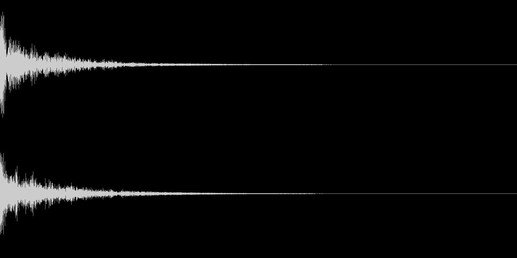 ドーン!↑↓ティンパニピッチ操作リバーブの未再生の波形