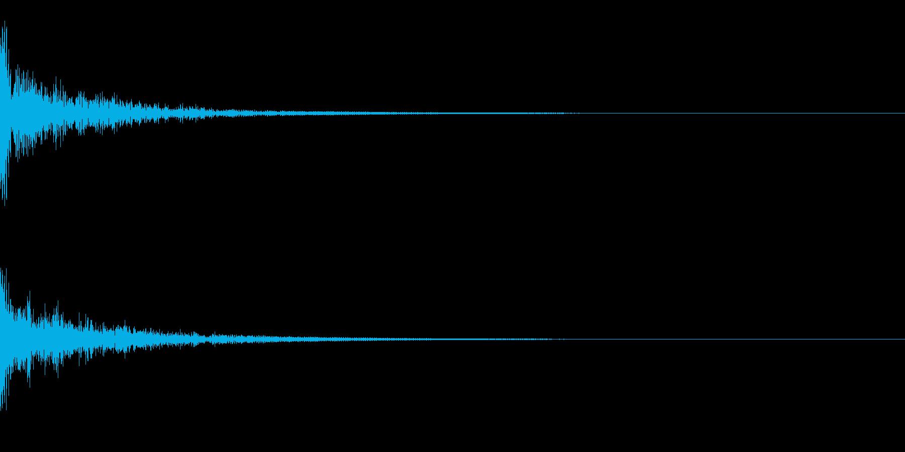 ドーン!↑↓ティンパニピッチ操作リバーブの再生済みの波形