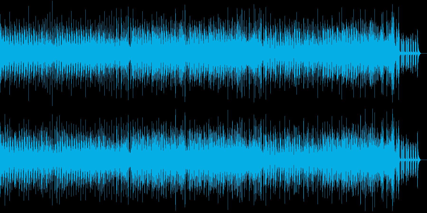 ラテン風リズムの軽快なジャズの再生済みの波形