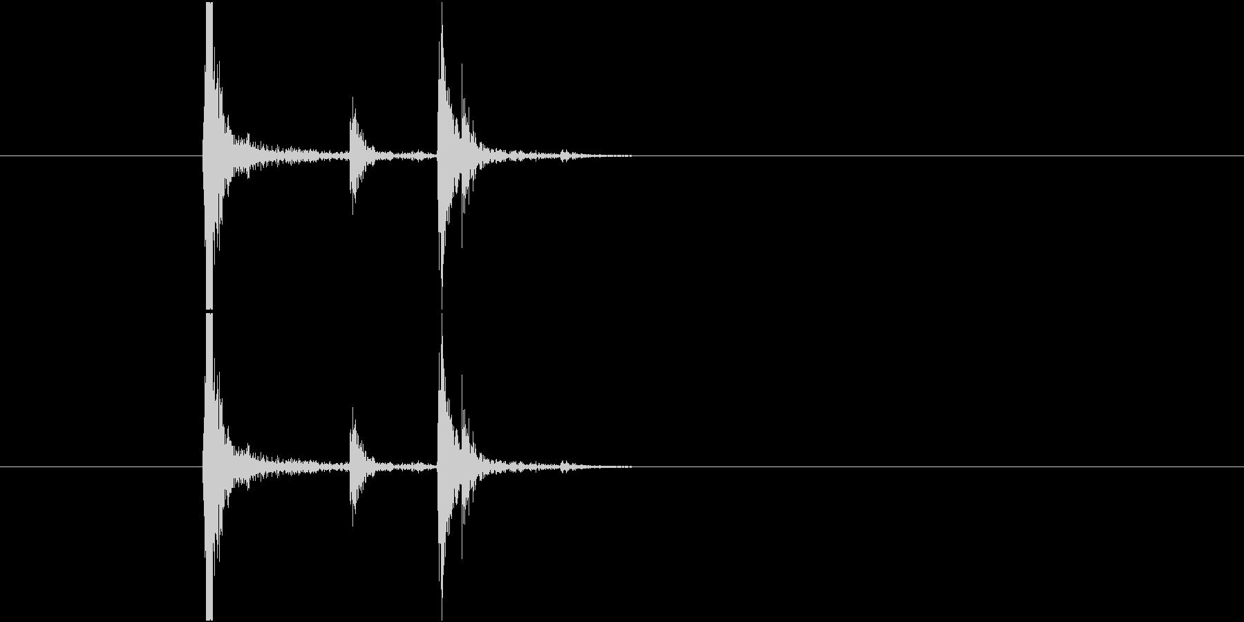 Ohashi 食卓に箸を置く音 ご馳走様の未再生の波形