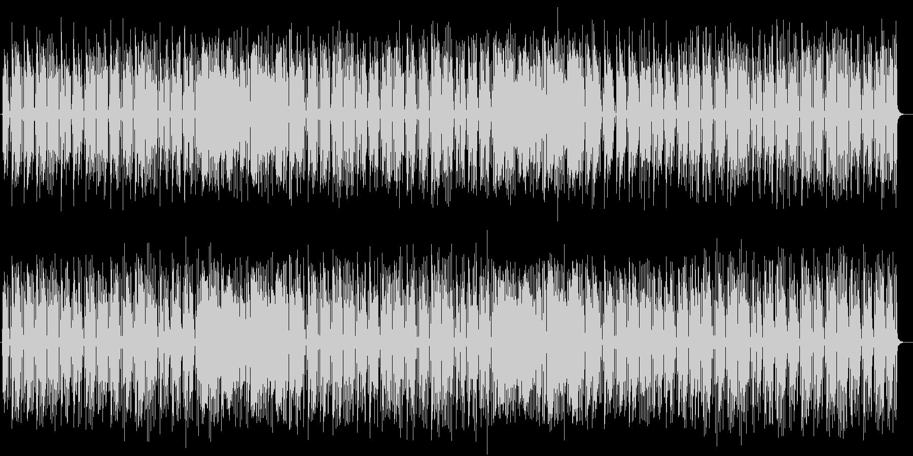 ゆるやかで可愛らしいポップミュージックの未再生の波形