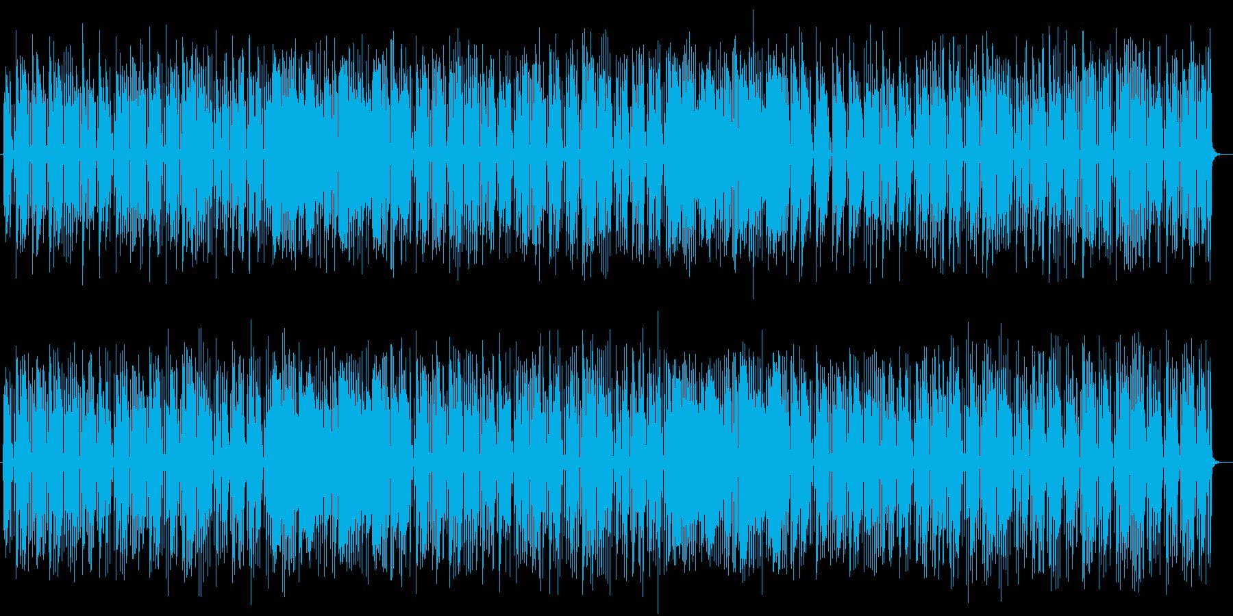 ゆるやかで可愛らしいポップミュージックの再生済みの波形