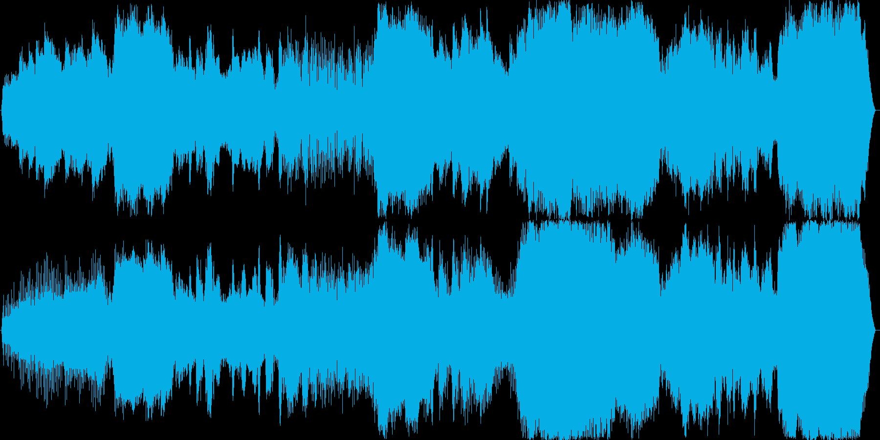 恐怖…恐怖…恐怖……。24bit,48…の再生済みの波形